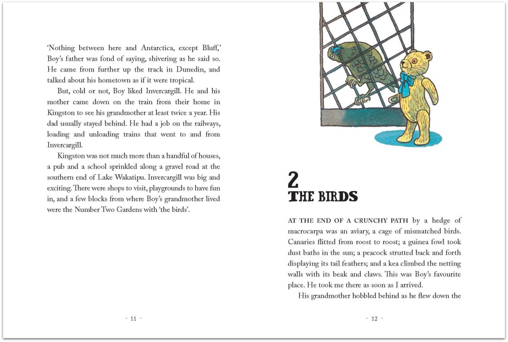 Teddy One Eye spread  pages 11 and 12